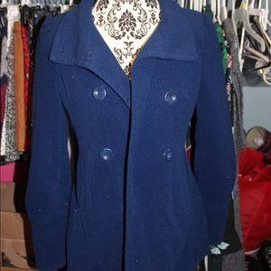 Blue Wool Peacoat